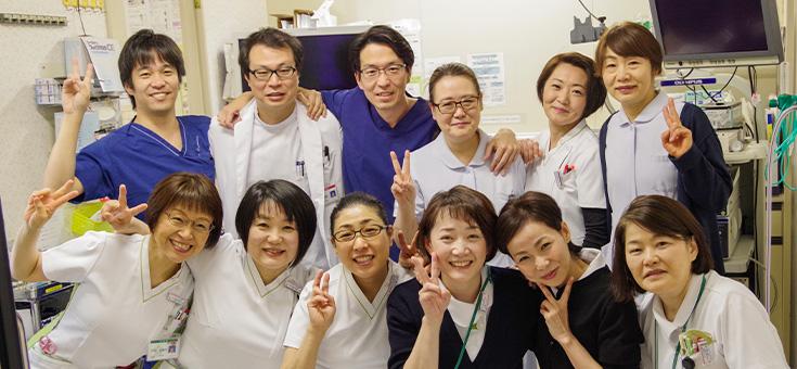 杏雲堂病院 内視鏡室スタッフ集合写真