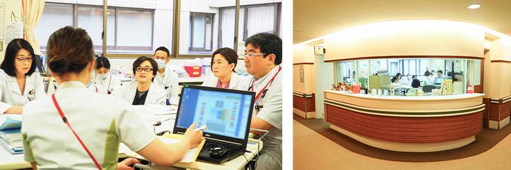 杏雲堂病院 多職種合同でのカンファレス風景