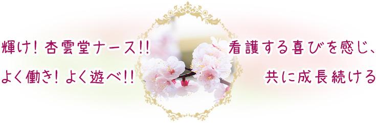 杏雲堂病院 看護部長メッセージ