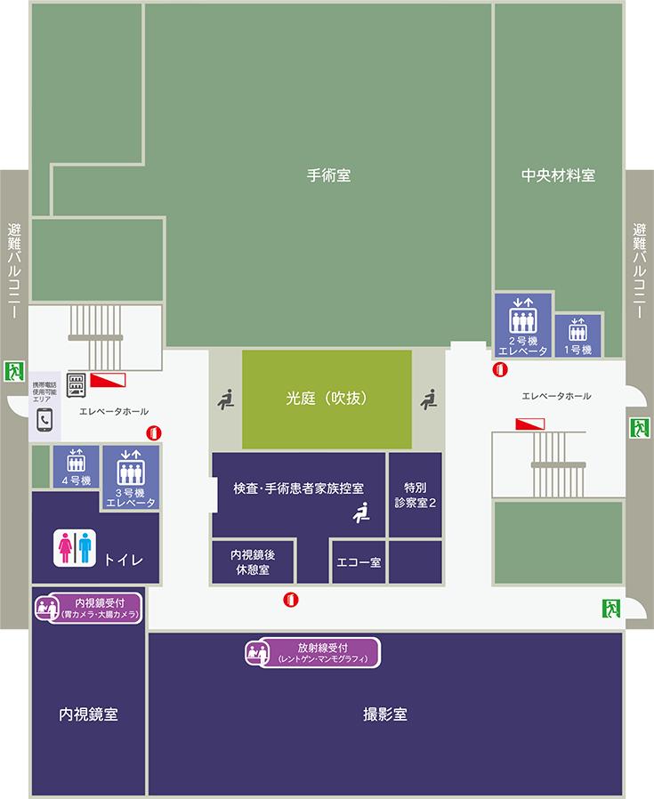 杏雲堂病院 3階フロア案内図